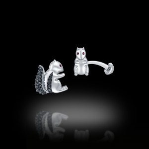 SC15016 Squirrel Cufflink