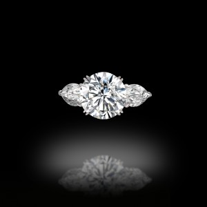 Round and Pears Trilogy Engagement Ring