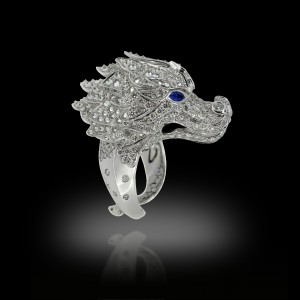 Dragon White Diamond Ring