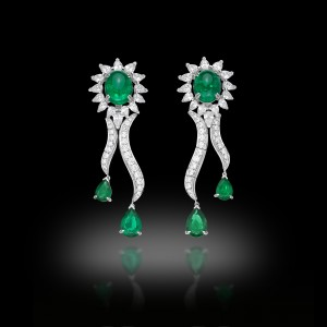 Cascade Zambian Emeralds Earrings