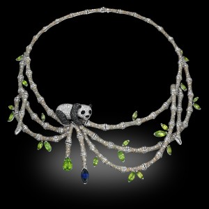 Panda Peridots Necklace