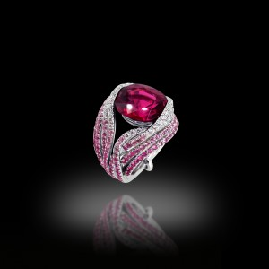 Wire Me Rubellite Ring