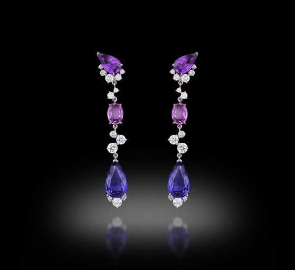 Sapphires 9 Carats Earring