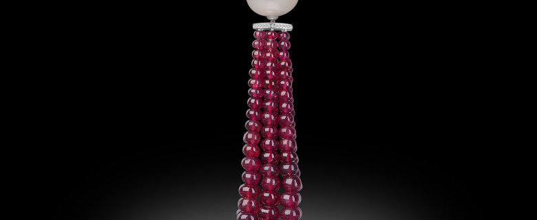 Ruby Beads Necklace
