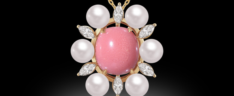 White Pearl Marquise Pendant